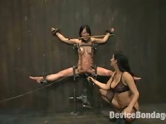 Bound In Metal, Fucked By Machine. Tia Gets Brutally Whipped By Isis And Made To Take Off Her Own Zipper. Find Out If She Deserved Her Orgasms