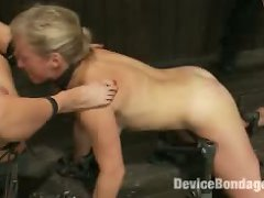 Ariel And Dia Bound Together. Mouth Gag To Ass Hook. Heavy Floggings On The Ass And Tits. Made To Squirt. Left Sweaty, Squirt Covered And Wrecked