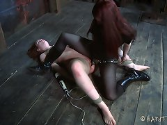 The Only Thing Bronte Loves More Than A Bit Of Cock Is A Lot Of Pain. Claire Adams Handles Her Like A Piece Of Meat Just Like She Craves