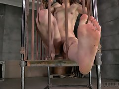 Cages Are A Wonderful Thing. They Let Us Lock The Girls Down And Still Have Open Access To Their Bodies. The Bars Give Us Hard Points To Bind Them Do,