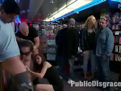 Kelly Divine Gets Her Gorgeous Big Ass Fucked And Fisted In A Porn Store While Strangers Grope Her Tits And Play With Her Cunt