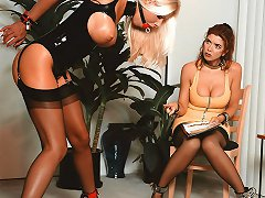 Lesbian Strapon Domination With Horny And Red Hot Chicks
